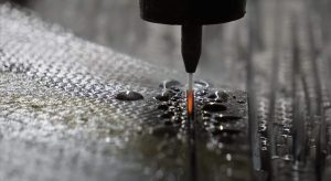 Waterjet cutting carbon fiber
