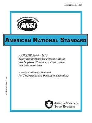ANSI/ASSEA10.4-2016