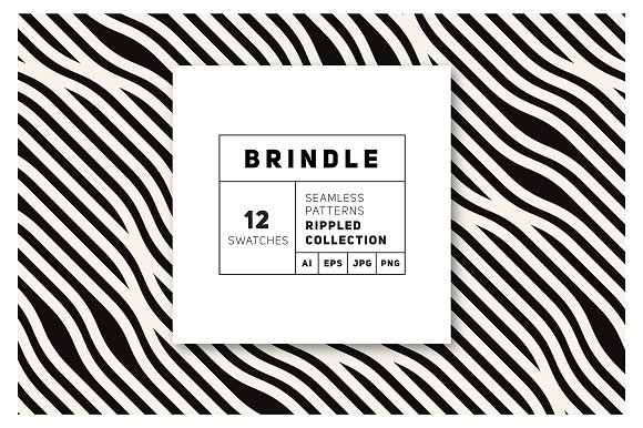 Brindle Seamless Patterns Set