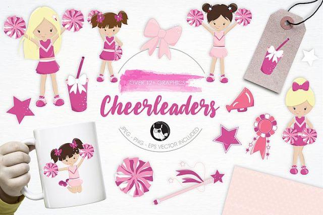 Cheerleaders graphics and illustrations