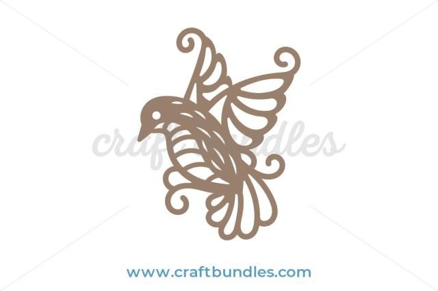 Misty Bird SVG Cut File