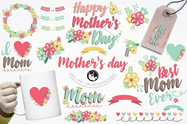 Mother's day graphics and illustrations