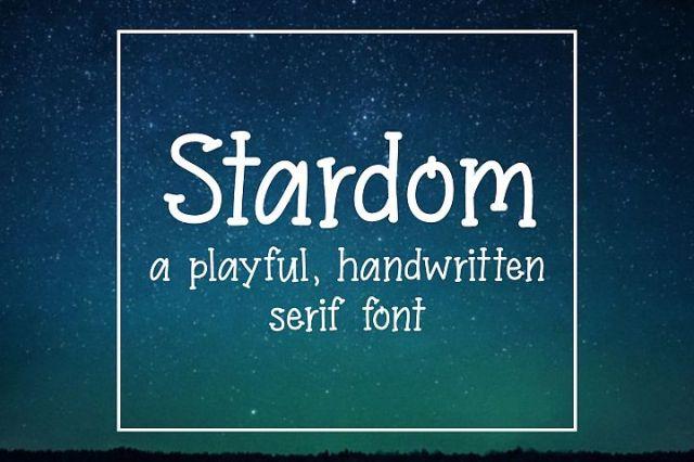 Stardom - Serif Handwritten Font
