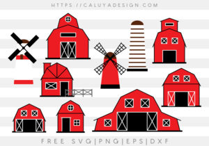 Barn Houses SVG