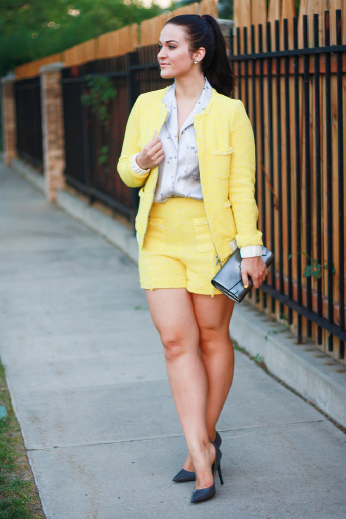 Yellow Tweed Suit