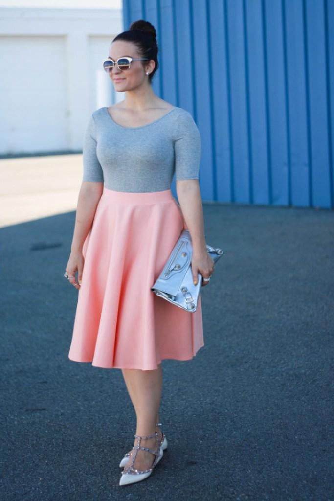 Asos Orange Midi Skirt