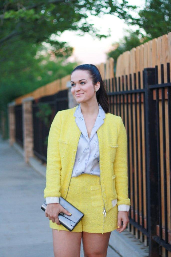Yellow Tweed Jacket