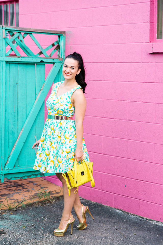 Kohls Lemon Print Dress