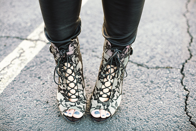 Brian Atwood Lace Up Booties