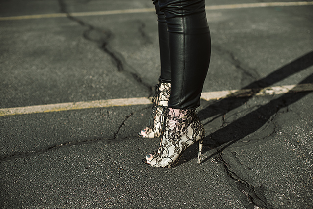 Brian Atwood Lace Booties