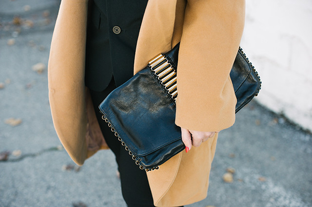 Ted Baker Black Leather Clutch