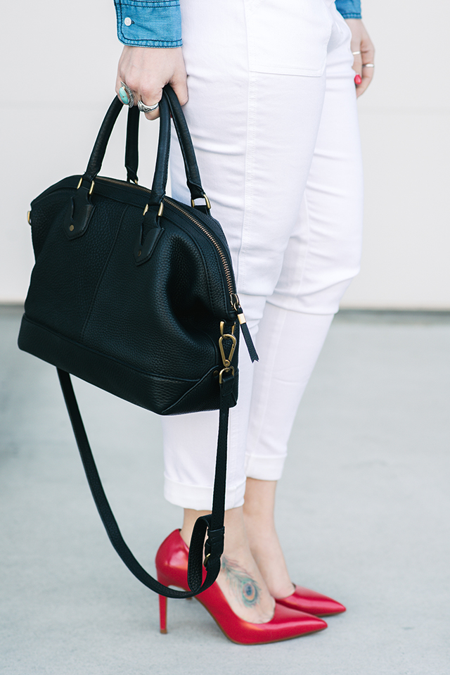 Madewell Black Leather Bag