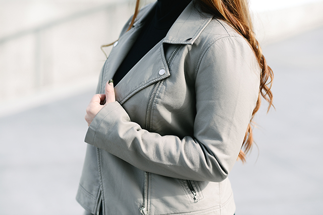 Taupe Forever 21 Moto Jacket
