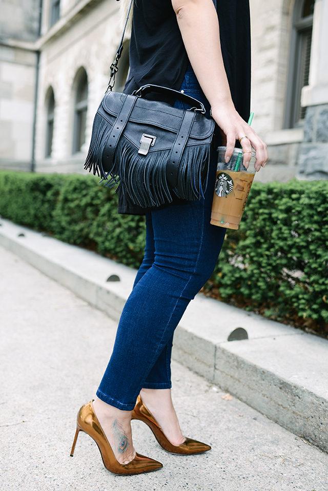 PROENZA SCHOULER The PS1 fringed leather shoulder bag