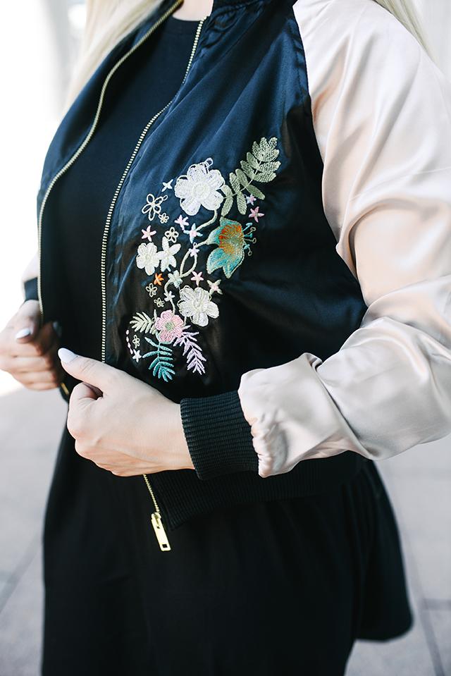 Brave Soul Embroidered Bomber Jacket