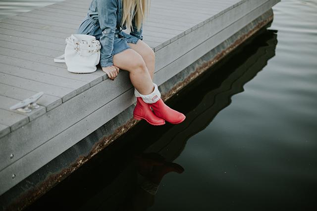 Pink Hunter Original Short Boot