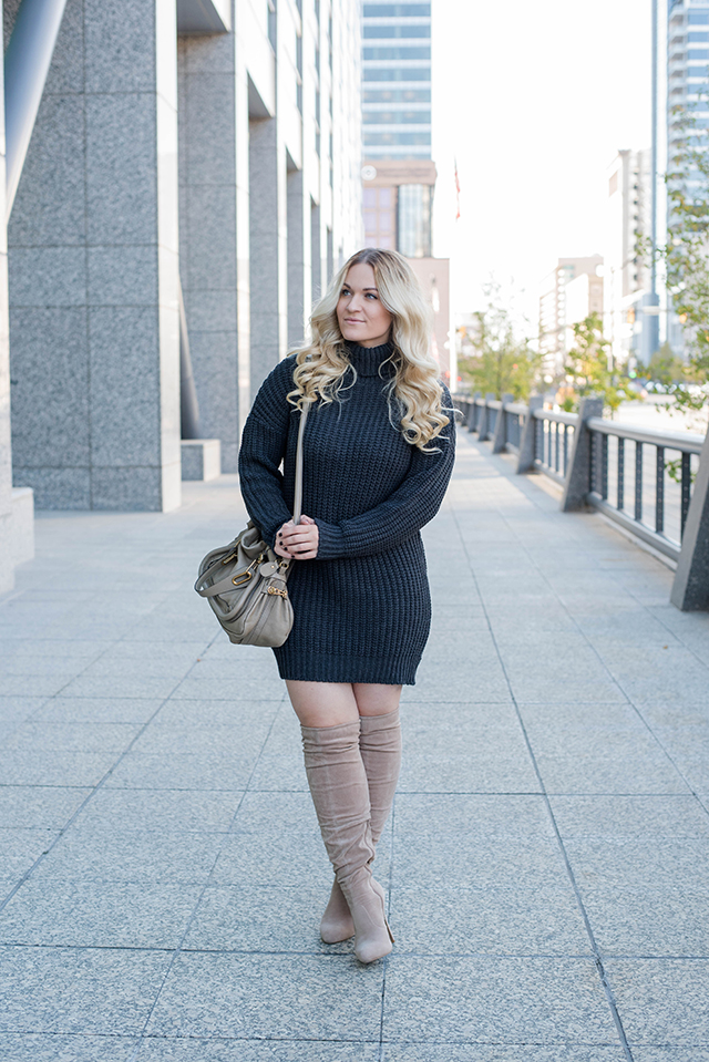 Boohoo Tillie Chunky Roll Neck Jumper Dress