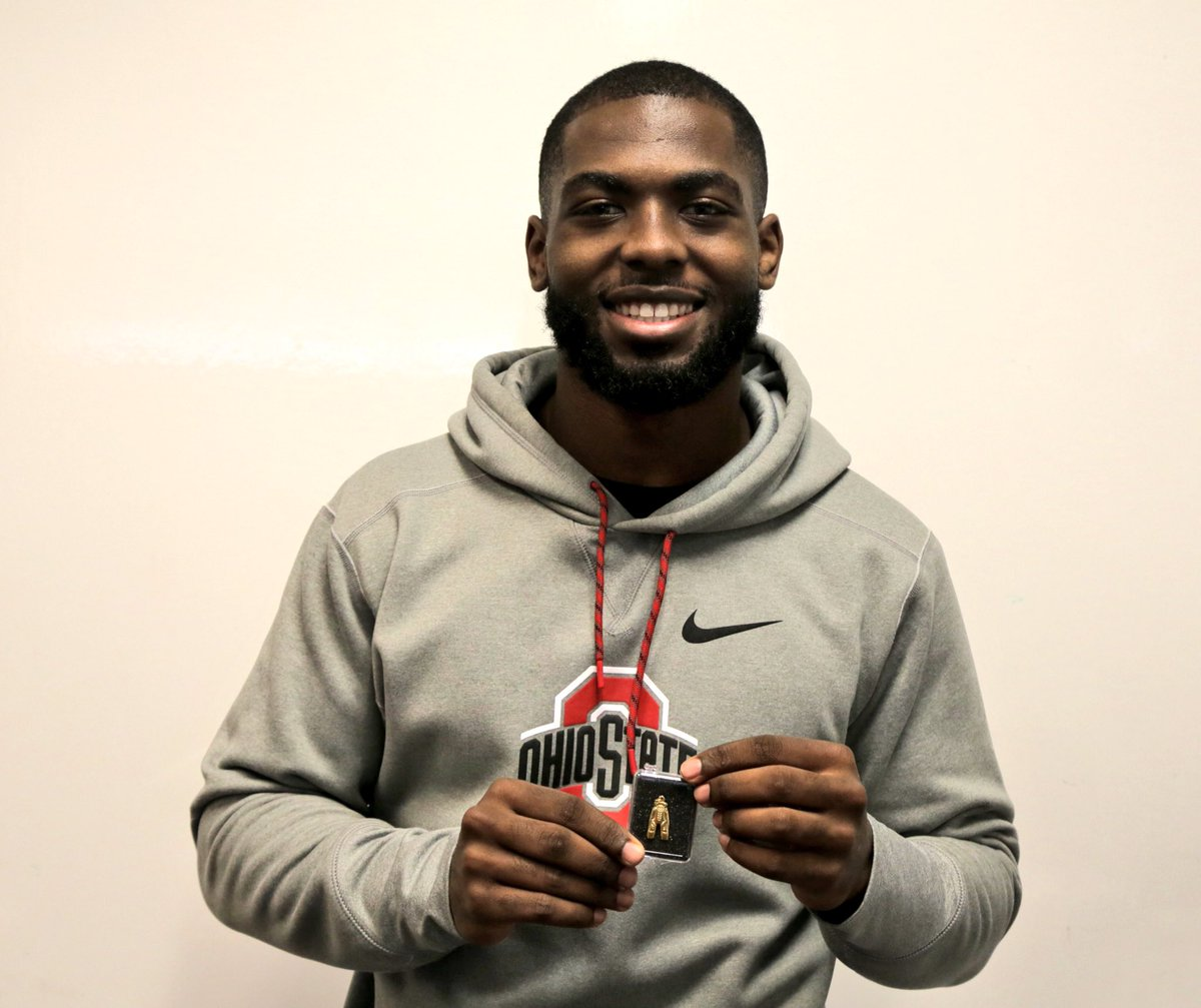 Ohio State Footballers Receive Gold Pants For Beating