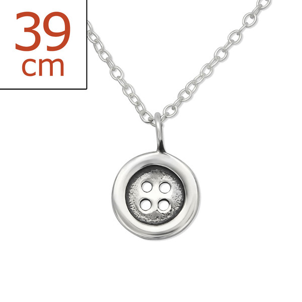 childrens-silver-button-necklace