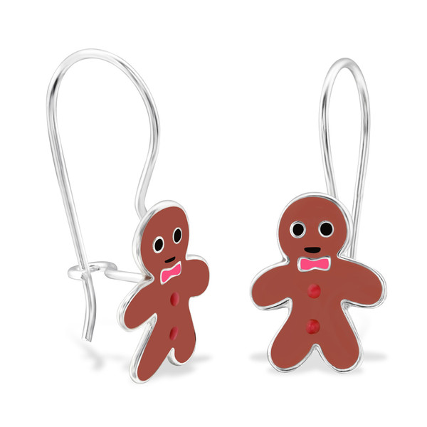 childrens-silver-gingerbread-earrings-with-epoxy-and-epoxy-color