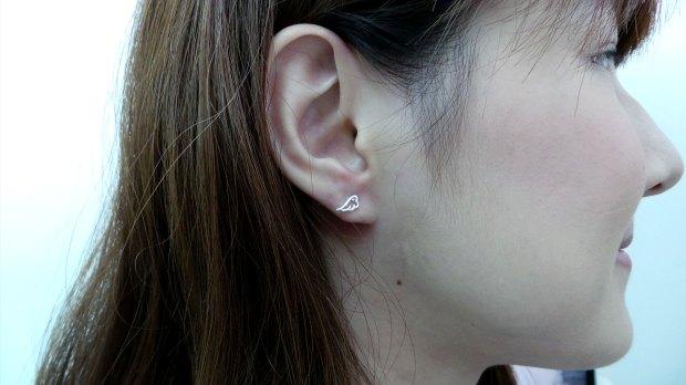Wing Silver Ear Studs