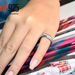 The Sandpaper Ring - stainless steel jewelry for women