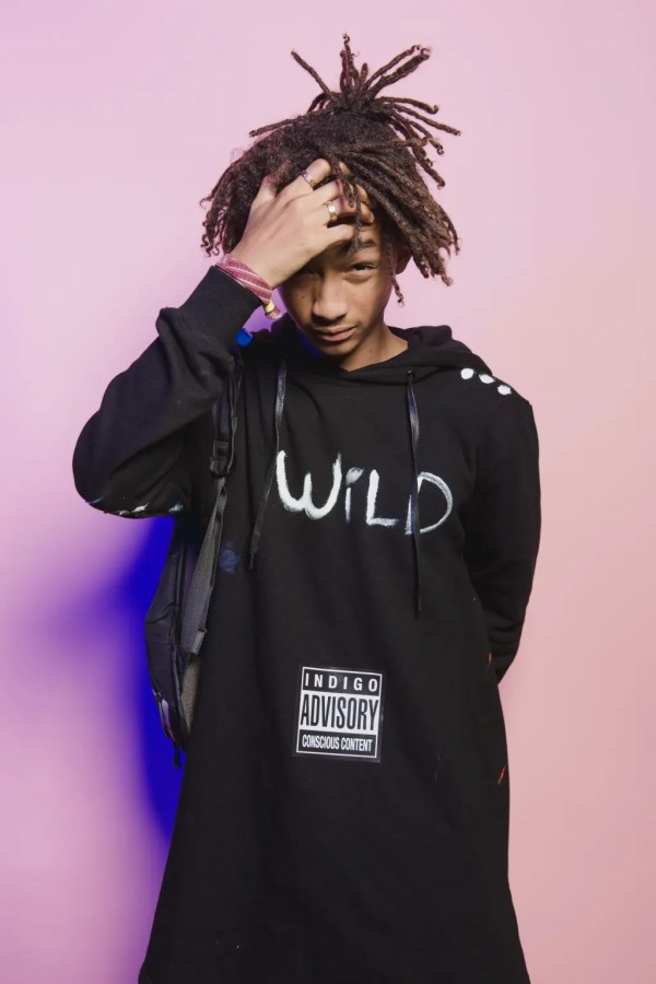 BROOKLYN, NY - OCTOBER 24:  Jaden Smith poses for a poratrit backstage at  Day 2 of the Fader Fort presented by Converse at Converse Rubber Tracks Studio on October 24, 2014 in Brooklyn City.  (Photo by Roger Kisby/Getty Images)