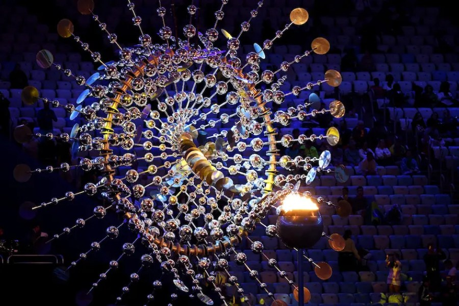 RIO DE JANEIRO, BRAZIL - AUGUST 21: The Olympic cauldron is seen prior to the Closing Ceremony on Day 16 of the Rio 2016 Olympic Games at Maracana Stadium on August 21, 2016 in Rio de Janeiro, Brazil. (Photo by Pascal Le Segretain/Getty Images)