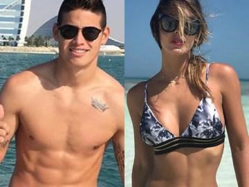 Shannon de Lima y James Rodríguez