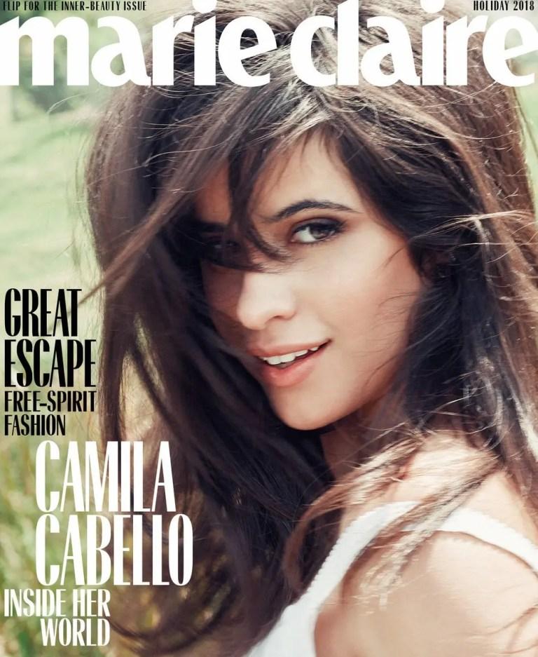 Camila Cabello posó para portada de Marie Claire