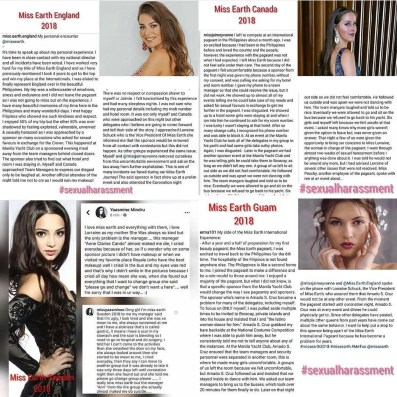 Miss Earth 2018 acoso sexual