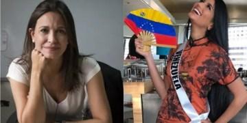 Sthefany Gutiérrez y María Corina Machado