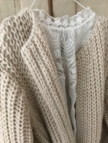 Wolle kombiniert mit feine Materialien