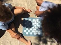 Dame Spiel zum mitnehmen die Anleitung findet ihr auf www.elfenkindberlin.de, viel Freude beim basteln