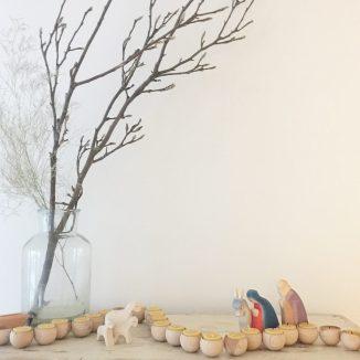 Adventsgärtlein,Eine Adventskette voller Licht,unser kleines Adventsgärtlein für zu Hause