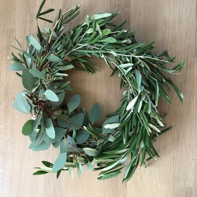 Eukalyptus- Oliven -Kranz- binden