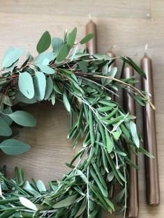 Eukalyptus und Oliven Adventskranz
