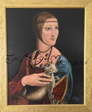 Dame mit Hermelin / Ölgemälde