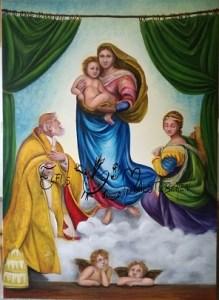 Sixtinische Madonna / Ölgemälde