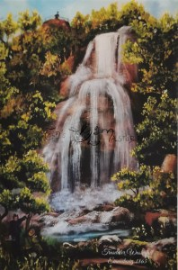 Druck Trusetaler Wasserfall 1865