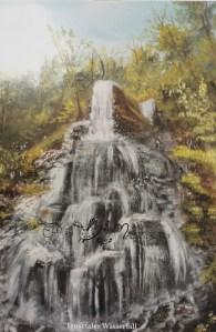 Druck Trusetaler Wasserfall mit Lichteinwirkung