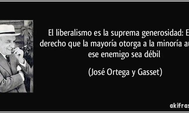 Frases sobre el liberalismo de Ortega y Gasset