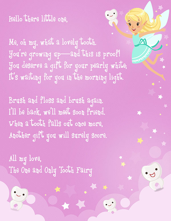Best Printable Tooth Fairy Letters