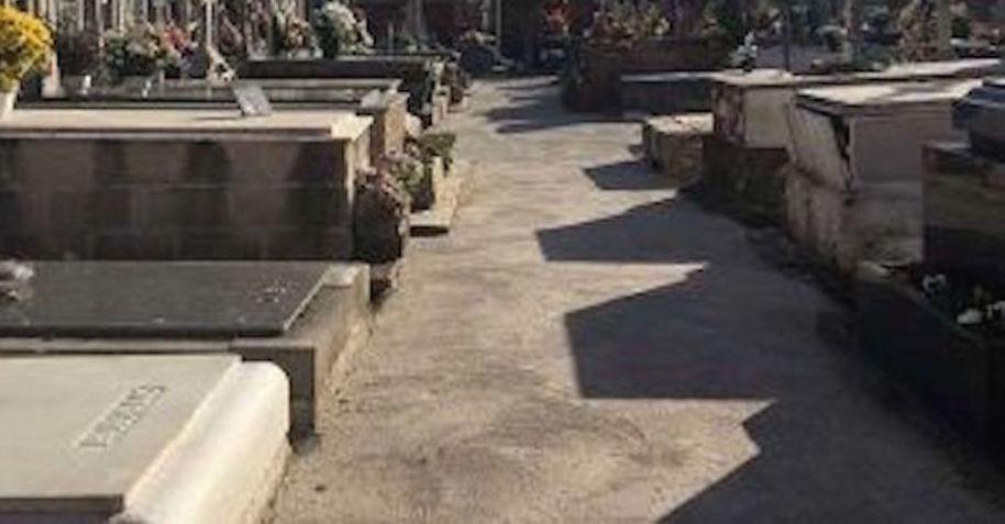 Asfaltado del cementerio de San Andrés