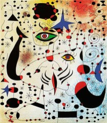 "Photograph of ""Constellation"" by Joan Miró"