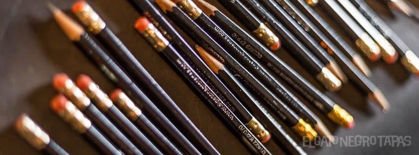 Pencils at El Gato Negro
