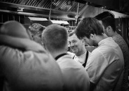 Chef Simon Shaw and kitchen team