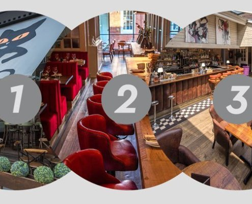 Full menu dining on all three floors at El Gato Negro