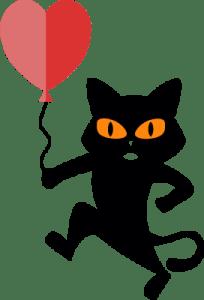 Valentine's cat logo