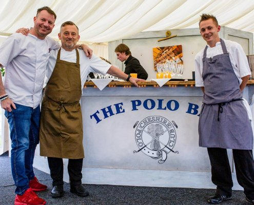 Andrew Nutter, Simon Shaw and Sean Sutton are chefs at Charity Polo Fundraiser